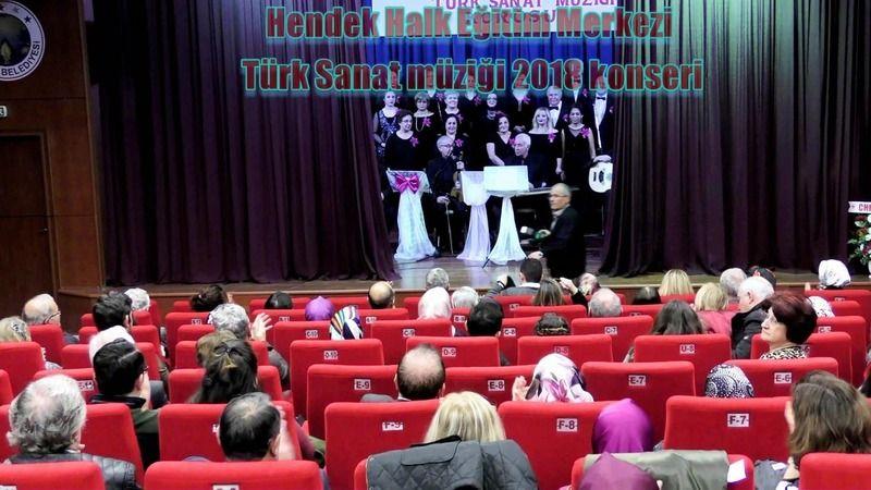 Hendek Halk eğitim merkezi müdürlüğü Türk Sanat Müziği konseri 2018