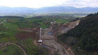 Sakarya Pamukova Turgutlu göletinde inşaat çalışmalarına hızla devam ediliyor…