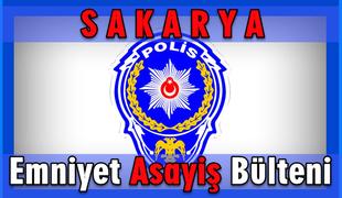 Sakarya il  Emniyet Müdürlüğü  16-17 Ekim 2018  Asayiş olayları